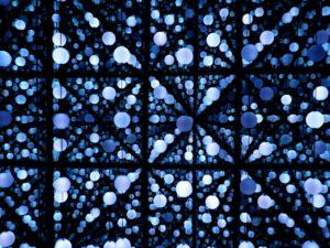 blue dots as data-driven
